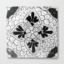 Black and White Talavera Nine Metal Print