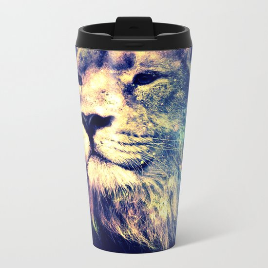 Galaxy Lion : Deep Pastels Metal Travel Mug