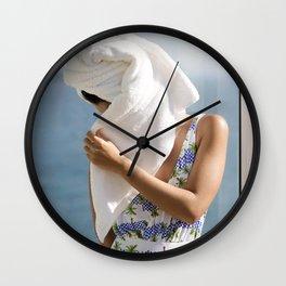 Towel Wall Clock