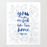 LOVESONG ROSES BLUE Art Print