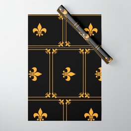 Gold And Black Wrapping Paper