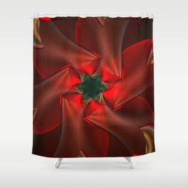 Merry Christmas With Love Shower Curtain