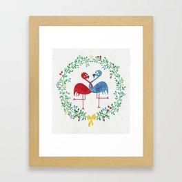 FlamingosTangled in Love Framed Art Print