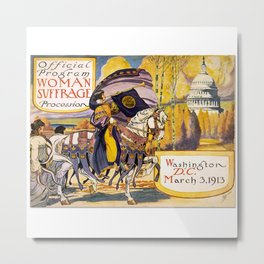 Women's March On Washington, Votes For Women, Women's Suffrage Metal Print