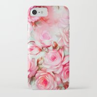shabby chic iPhone & iPod Cases featuring Shabby Chic Pink by Jacqueline Maldonado