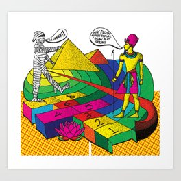 The mummy returns!  Art Print