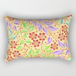 Sunshine Filigree Floral Rectangular Pillow