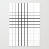 grid Canvas Prints featuring GRID by Anna Lindner