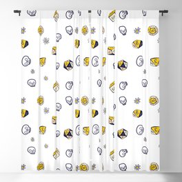 Dice, Daisies, and a lot of Skulls Blackout Curtain