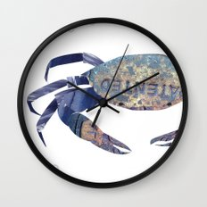 Manhole Crab with Lace Wall Clock