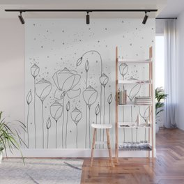 Light Flower Doodle Art Wall Mural