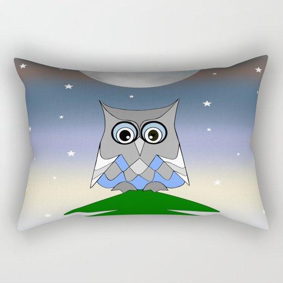 Moon Owl Rectangular Pillow
