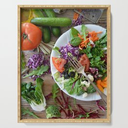 Let's salad ! 2 Serving Tray