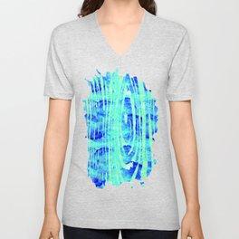 Blue Wood Print Unisex V-Neck