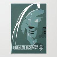 fullmetal Canvas Prints featuring Fullmetal Alchemist Alphonse Helmet Series   by Cory Payne