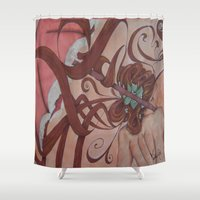 art nouveau Shower Curtains featuring Art Nouveau by Matita's Art