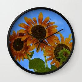 never trust a perfect sunflower Wall Clock