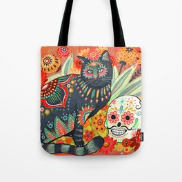 Dia De Los Muertos Cat Tote Bag