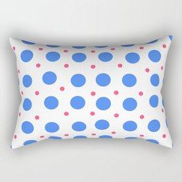 Big Blue Dots Pattern Rectangular Pillow