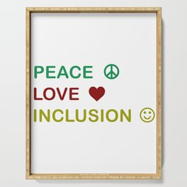 Great for all occassions Inclusion Tee Peace Serving Tray