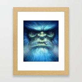 Abominable Snowman Framed Art Print