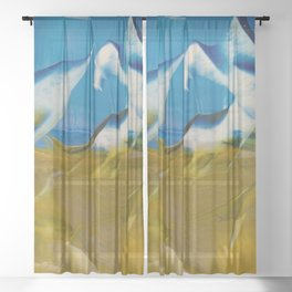 Seabirds Sheer Curtain