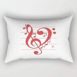 Love Music ~ Valentines Edition ~ Rectangular Pillow