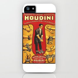 Houdini, vintage theater poster, color iPhone Case