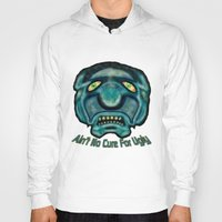 the cure Hoodies featuring No Cure For Ugly by Gene S Morgan