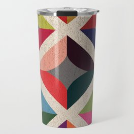Colourful Geometric Travel Mug