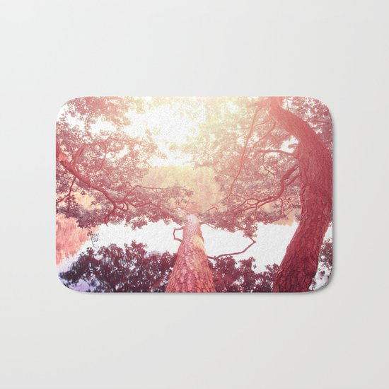 Red woods #trees Bath Mat