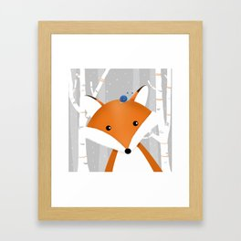 Fox and snail Framed Art Print