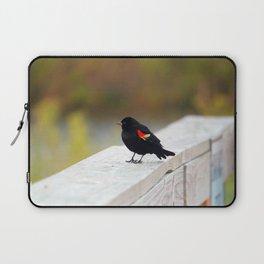 Red Winged Blackbird Laptop Sleeve