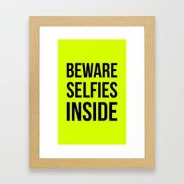 Selfies inside Framed Art Print