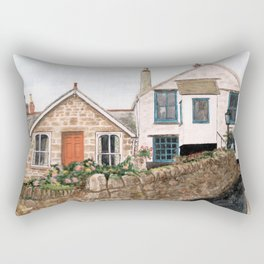 Mousehole Fishermans' Cottages UK Rectangular Pillow