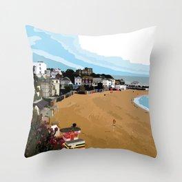 Broadstairs Beach Throw Pillow