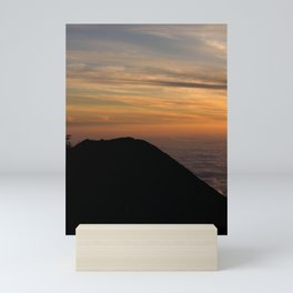 lovely sunset at the volcano national park Mini Art Print