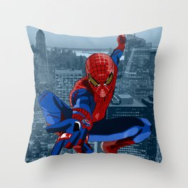 Amazing Spider-Man (Film Title) Throw Pillow