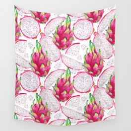 Dragon fruit fresh and sliced Wall Tapestry