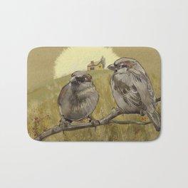 Sparrows at Sunrise Bath Mat