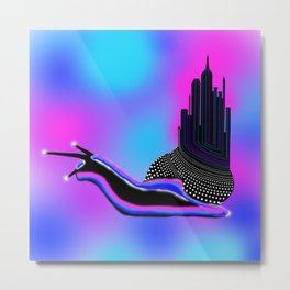 New York Snail Metal Print