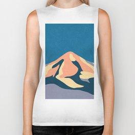 Over The Sunset Mountains Biker Tank