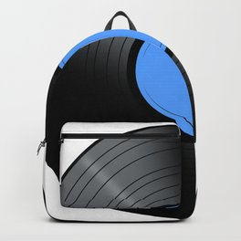 Music Record Blue Backpack
