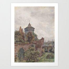 The Spittler In Nuremberg 1856 by Rudolf von Alt   Reproduction Art Print