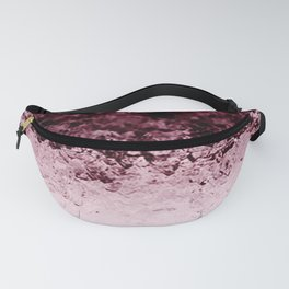 Burgundy CrYSTALS Ombre Gradient Fanny Pack