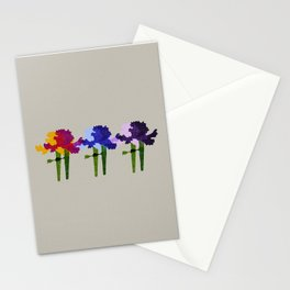 colorful iris screen print design Stationery Cards