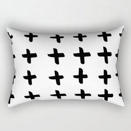 Black and white cross pattern. Modern. Scandinavian. Rectangular Pillow