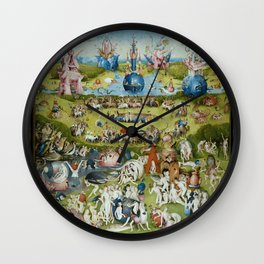 The Garden of Earthly Delights by Hieronymus Bosch (1490-1510) Wall Clock