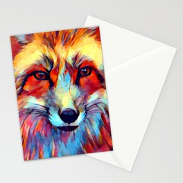 Fox Watercolor 2 Stationery Cards
