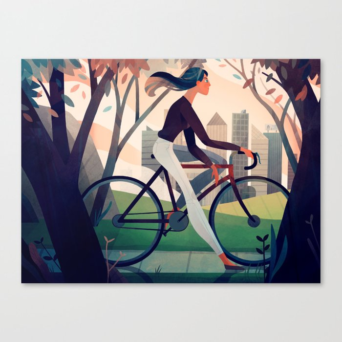 Bike Ride Canvas Print